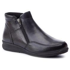Botine GO SOFT – WI23-ENYA-05 Black Textiles, Shoes, Black, Products, Fashion, Natural Leather, Boots, Tejidos, Moda