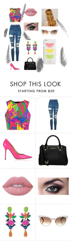 """kl"" by sonya-fiorella-gauna-vargas on Polyvore featuring Milly, Topshop, Jimmy Choo, MICHAEL Michael Kors, Lime Crime, Trina Turk, Gucci, Kate Spade, men's fashion y menswear"