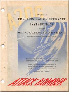 Douglas A-20 G Series Aircraft Erection and Maintenance Instructions Manual - 1944 - Aircraft Reports - Manuals Aircraft Helicopter Engines Propellers Blueprints Publications