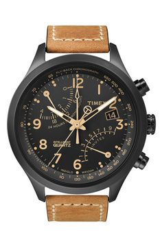 Timex® 'Intelligent Quartz' Flyback Chronograph Watch