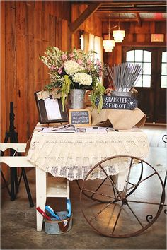 Chic vintage ranch wedding. Captured By: Erica Mae Photography