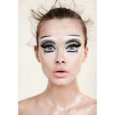 Animal Inspired Halloween Makeup Ideas ❤ liked on Polyvore featuring beauty products, makeup, animal print makeup, sexy makeup and animal inspired makeup