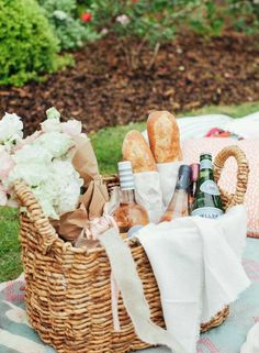 Wine, Pellegrino and French Bread - Ana Rosa