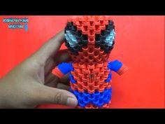 Como hacer un Spiderman de papel Total de piezas, colores y hojas 200 piezas de color rojo de 6x4cm. Se utilizaron 9 hojas 89 piezas de color azul klein o az...