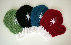 What's on my hook: Crochet mitten coasters