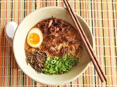 Miso Ramen with Crispy Shredded Pork and Burnt Garlic-Sesame-Chile Oil.
