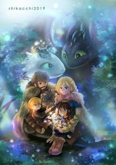 Fury and Hiccstrid babiessssss 😍😍the fam ❤️❤️❤️ - by Shikacchin Toothless And Stitch, Toothless Dragon, Dragon 2, Dragon Rider, Dragon Girl, Httyd Dragons, Dreamworks Dragons, Cute Dragons, Httyd 3