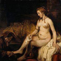 Restauration de tableaux : la toilette de Bethsabée