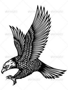 Eagle Tattoo picking up sunflower