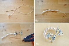 Urob si sam DIY Perlový náramok s mašľou návod