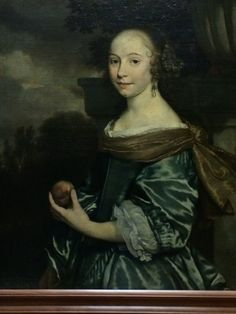 1662 Abraham van den Tempel - Portrait of a lady holding fruit. CF seam looks bulky - is this front closing? 17th Century Clothing, 17th Century Fashion, Renaissance, Potrait Painting, Old Portraits, Historical Art, Beauty And The Beast, Les Oeuvres, Art History