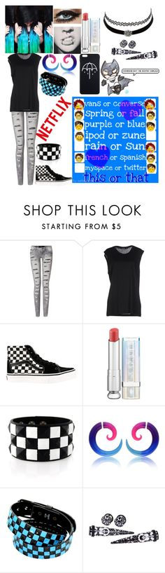 """""""I'm so bored. Ask me questions in the comments if u want"""" by emmcg915 ❤ liked on Polyvore featuring BLK DNM, Vans, Christian Dior, Charlotte Russe and Veja"""