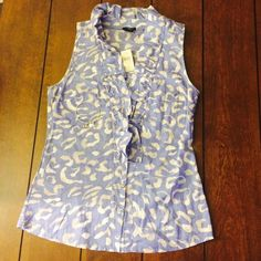 Ann Taylor tank blouse nwt Size 4 ann Taylor button up tank with ruffle front, nwt. Ann Taylor Tops Blouses