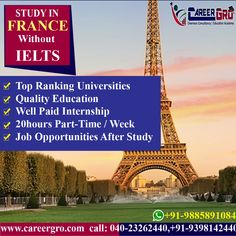 Careergro Overseas Consultant is one of the best study abroad consultants in Hyderabad. We provide best services for study, work and want to migrate abroad. Overseas Education, Work Visa, Best University, Ielts, Study Abroad, Higher Education, Places To See, Masters, Europe