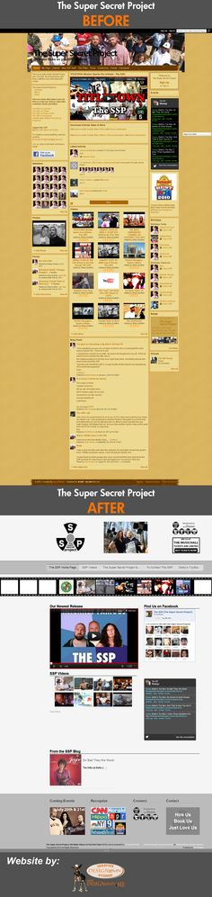 The Super Secret Project came to us to Re-Design their #Website  The Design includes embedded Video, Video Showcase and a #Blog.  #YouTube #WebDesign #Website NH Website Design, Portsmouth NH Web Design, New Hampshire Laconia NH Web Design Studio  http://DESIGNativity.ME