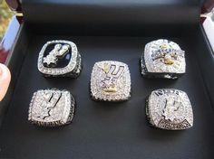 1999-2014 San Antonio Spurs Championship Ring Set
