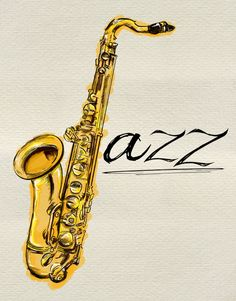 Jazz Saxophone Painting Free Photo