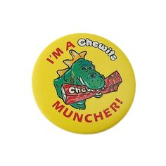 Vintage 1980s Badge  'I'm a chewits muncher' by FabPins on Etsy