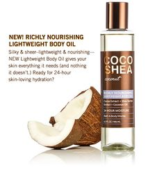 New! Richly nourishing lightweight body oil - silky & sheer - lightweight & nourishing - NEW Lightweight Body OIl gives your skin everything is needs (and nothing it doesn't.) Ready for 24-hour skin-loving hydration?