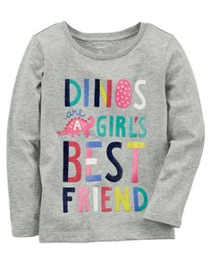 31455bf4a Baby Girl Dino Jersey Tee from Carters.com. Shop clothing & accessories  from