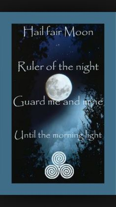 Moon nighttime mantra chant prayer