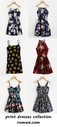floral print dresses collection 2017 - romwe.com