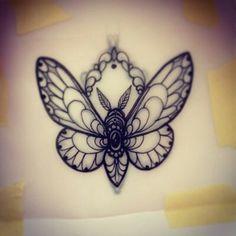 Moth tattoo design I love