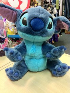 "LILO & STITCH Plush Stuffed Animal 14"" Disney Store Beanie SOFT Stitch as a Dog #Disney"