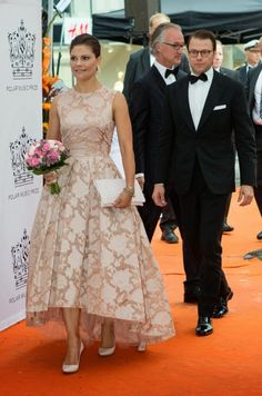 Crown Princess Victoria of Sweden and Prince Daniel arrives at the Stockholm Concert Hall