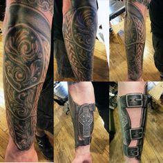Forearm Mens Armor Tattoo