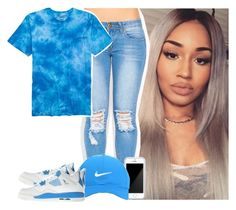 """""""Blue"""" by s0-childish ❤ liked on Polyvore featuring Squair, Nike Golf, NIKE, women's clothing, women's fashion, women, female, woman, misses and juniors"""