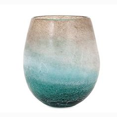 Luna Blue Frosted Vase - Tabletop - Accessories