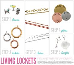 How to build an Origami Owl locket. Designer #26947