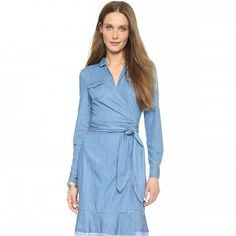 Aya Wrap Dress, Light Indigo