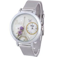 Encontrar Más Relojes de moda Información acerca de Precisa mujeres de moda Dial redondo de acero inoxidable de malla de cuarzo reloj de cuarzo regalo 2015, alta calidad relojes constante, China regalos de pingüinos Proveedores, barato reloj r de Global Watch Store en Aliexpress.com