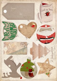 Exclusive christmas labels.  You can download them in pdf in the link.  Hope you like them.