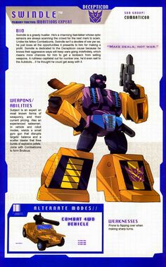 Transformer of the Day: Swindle