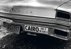 Oldsmobile bumper.from the 60s. Most folks decided they didn't love Cairo enough.