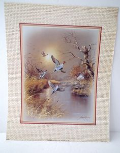"Andres Orpinas Ducks Flying Print by Bernard Picture Co 1986 Approx. 8"" x 10"""