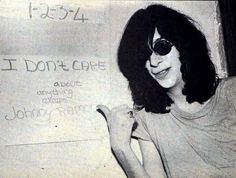 """#Ramones """"I don't care about anything except Johnny Ramone"""""""
