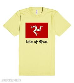 Isle of Man, flag   The flag of the Isle of Man features on this awesome shirt! #Skreened