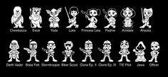Star Wars Family Member Car Stickers. So once again my Kids are my Pets even in the world of Star Wars family car stickers.