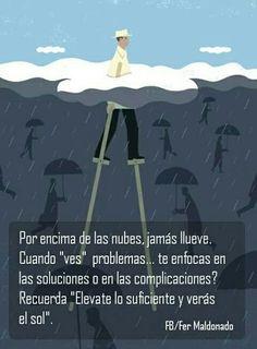 POR ENCIMA DE LAS NUBES NO LLUEVE...