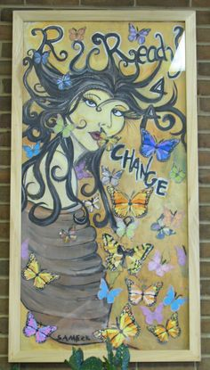 """Ready for a Change"" is a great painting by a student with disabilities at the Woodrow Wilson Rehabilitation Center"