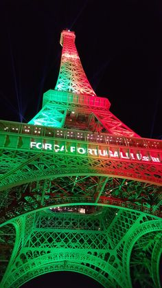 #Portuguese flag colors all over Eiffel Tower during Euro cup 2016 #champs2016 #PortugalChampion2016EuroCup