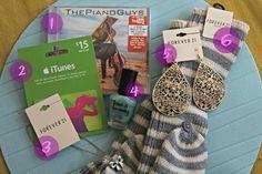 Six Sisters' Stuff: Cute teenage girl gift basket.