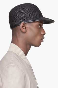 Silent By Damir Doma Black Paper And Leather Baseball Cap for men c9b5a012cc