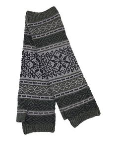 Take a look at this Dark Gray Fair Isle Fingerless Gloves by Jeanne Simmons Accessories on #zulily today!