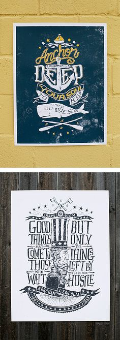 Hand Crafted Prints by Nathan Yoder... I really suck at putting a quote daily on my Daily Quote board... LOL
