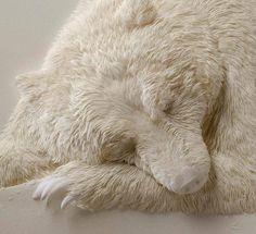 Bear, drywall sculpture